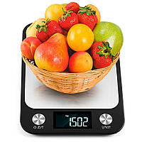 Весы кухонные электронные Losso Premium CX - 10 кг с LED-подсветкой - чёрные