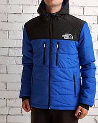 Куртка Норс Фэйс мужская осень-зима синяя синтепон водоотталкивающая (реплика) Jacket The North Face Blue