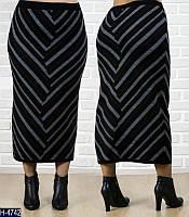 Теплая длинная юбка в расцветках размеры 52-56 арт 0025