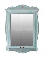 Шкаф зеркальный Атолл Ривьера heaven (небесно голубой), 170х1150х780 мм