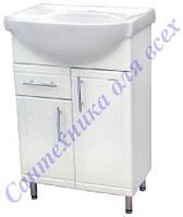 Тумба с умывальником и выдвижными ящиком в ванную Изео-55 Т3/4