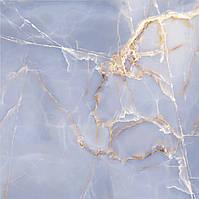 607х607 плитка Керамограніт підлогу Онікс блакитний Onyx Blue, фото 1