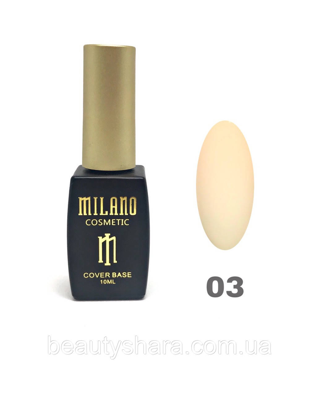 База Milano Cover Base 10 мл №02 - базовое покрытие камуфлирующее