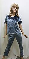 Костюм велюровый брюки и футболка 298, фото 1