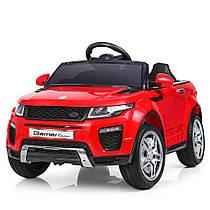 Детский электромобиль M 3213 EBLR-3 Land Rover, мягкое сиденье,КРАСНЫЙ
