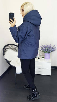 """Стильная женская куртка на синтепоне """"Nora"""" с капюшоном (большие размеры), фото 2"""