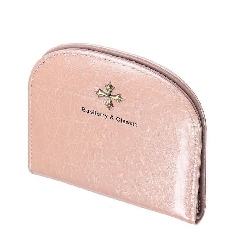 ✱Кошелек женский Baellerry N5536 Light Pink компактный тонкий для хранения денег Оригинал