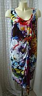 Платье женское мягкое летнее вискоза стрейч миди р.50-54 от Chek-Anka