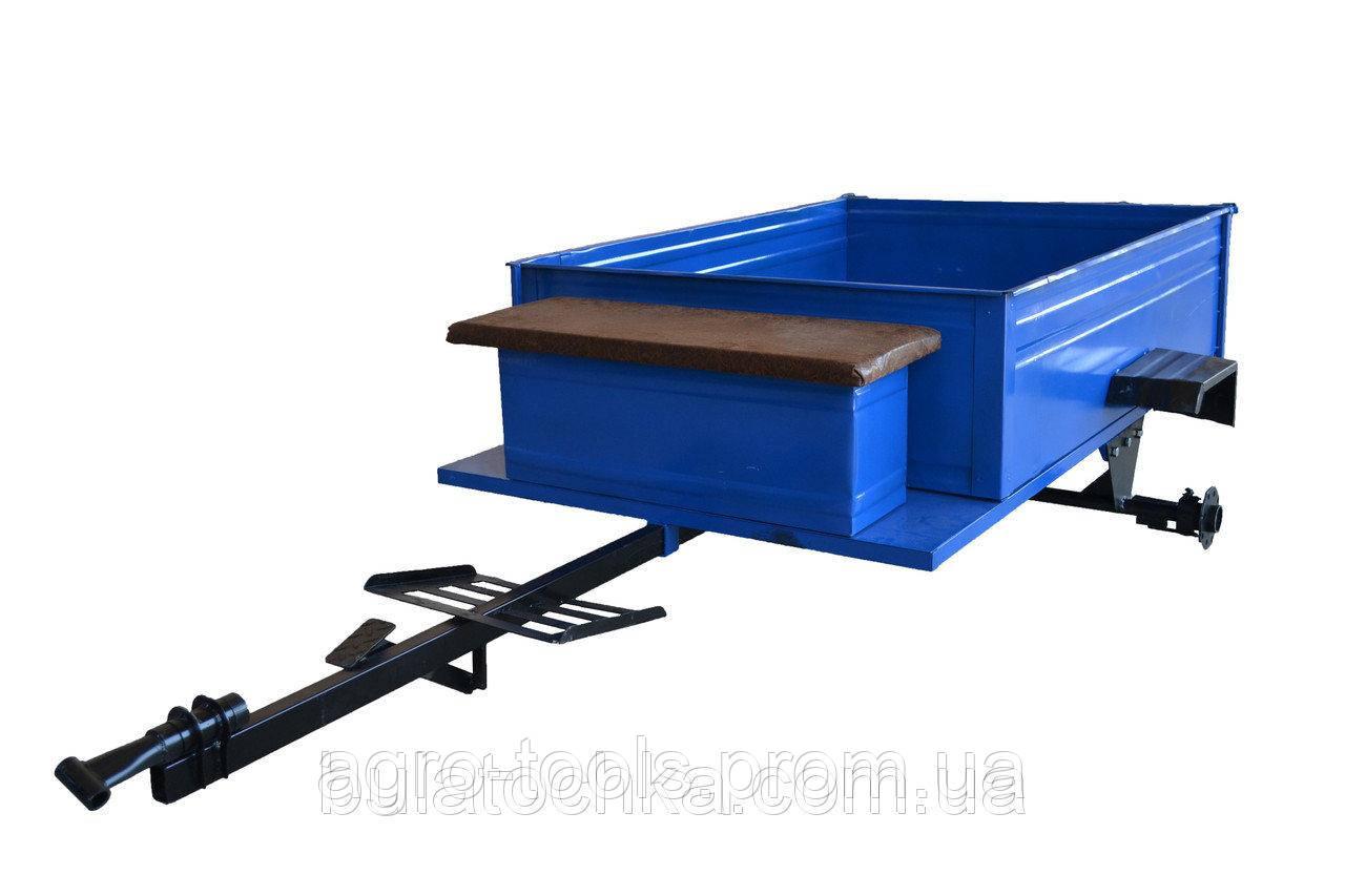 Прицеп-самосвал(стандарт) с ленточными тормозами под универсальную жигулёвскую ступицу (1150Х1400) БЕЗ КОЛЕС