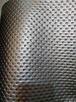Кожзам мебельная ткань на войлочной основе ширина 140 см цвет черный, фото 1