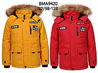 Куртка утепленная для мальчиков оптом, Glo-story, 92/98-128 см,  № BMA-9420, фото 1