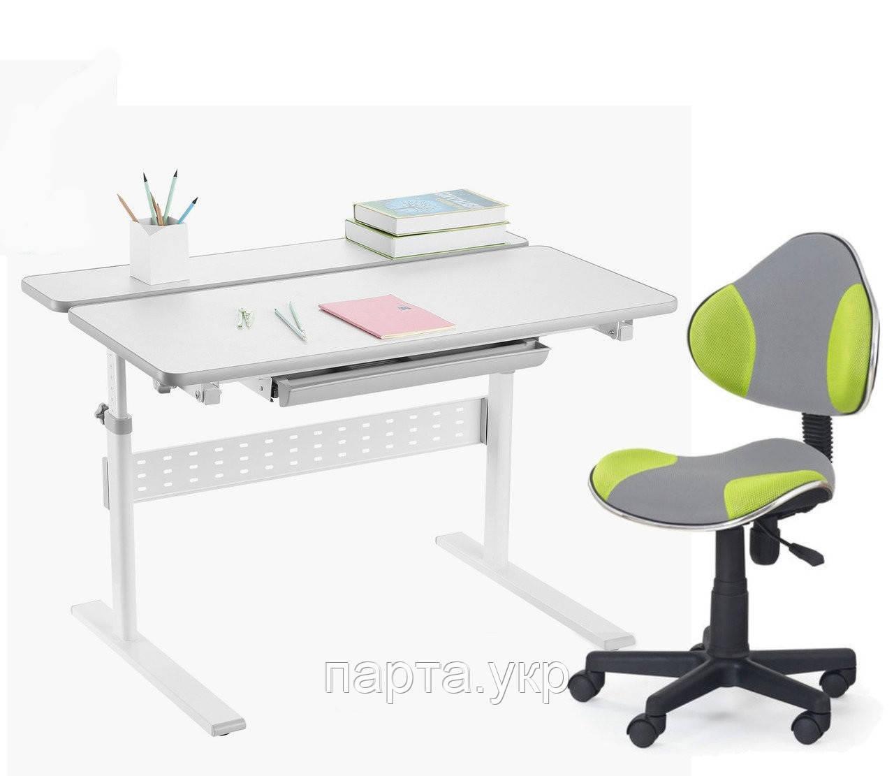 Комплект парта Colore Grey 95 см+ детское компьютерное кресло LST3, 2 ЦВЕТА