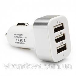 USB адаптер зарядка Top Trends Plus от прикуривателя в авто на 3 USB