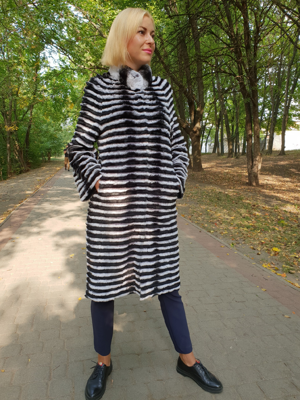 Кардиган  пальто из натурального меха