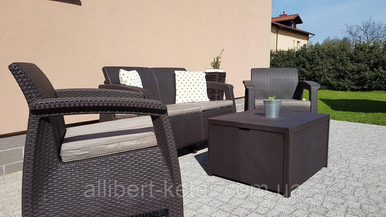 Corfu Box Set садовая мебель из искусственного ротанга