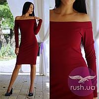 Облегающее платье с открытыми плечами, фото 1