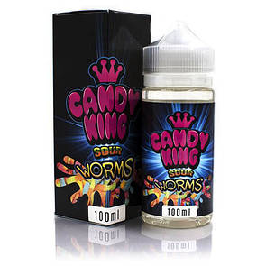 Candy King Sour Worms - 100 мл.