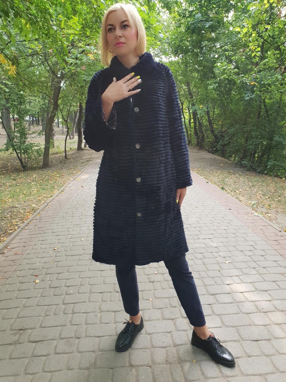 Кардиган  пальто из натурального меха двухсторонний