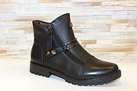Ботинки женские черные на молниях Д606, фото 1