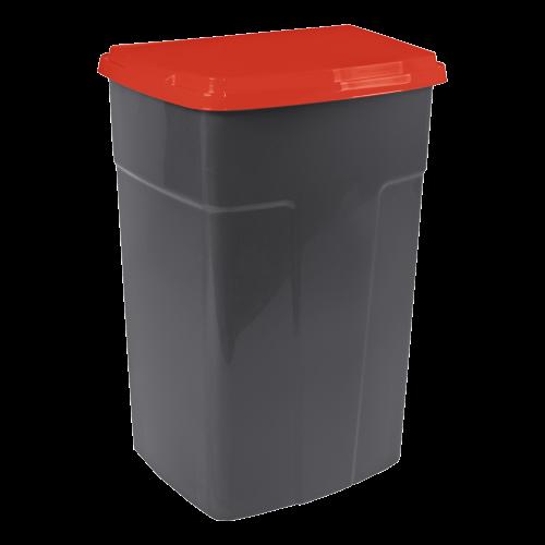 Бак мусорный 90 л. темно-серый,красный