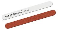 Пилка для ногтей Kodi Professional Прямая 180/240 White-Brown