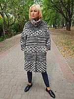 Женский кардиган из меха норка в роспуске, фото 1