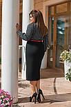 Женский костюм больших размеров: блуза и юбка (в расцветках), фото 2