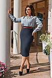 Женский костюм больших размеров: блуза и юбка (в расцветках), фото 9