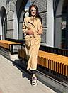 Женские длинный тренч под пояс с воротником стойкой 58pt191, фото 4