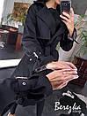 Женский коттоновый тренч с ремешками на рукавах и поясом на талии 66pt192Q, фото 5
