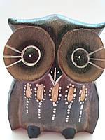 Статуэтка  сова деревянная высота 12 см