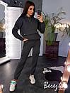 Утепленный спортивный костюм с худи на флисе и штанами на манжетах 66so741Е, фото 6