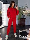 Утепленный спортивный костюм с худи на флисе и штанами на манжетах 66so741Е, фото 7