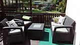 Keter Corfu Box Set садовая мебель из искусственного ротанга, фото 3