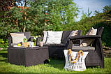 Keter Corfu Box Set садовая мебель из искусственного ротанга, фото 7