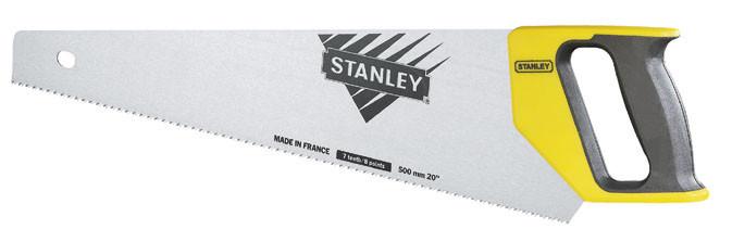 Ножовка по дереву 500мм  7TPI универсальный  затачиваемый зуб  STANLEY 1-20-010