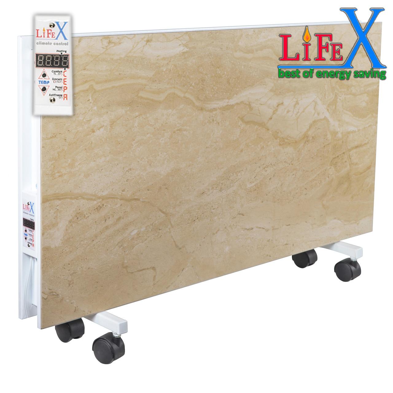 Напольный керамический обогреватель LIFEX ПКП1200 (бежевый мрамор)