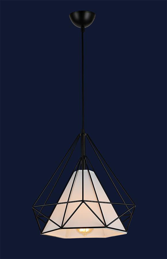 Светильник подвесной сетка черный в лофт стиле 7546599-1 BK(250) ширина 25см