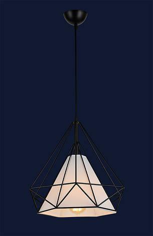 Светильник подвесной сетка черный в лофт стиле 7546599-1 BK(250) ширина 25см, фото 2