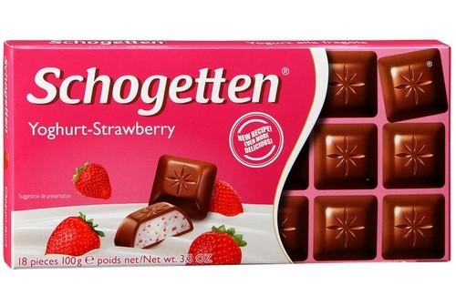 Молочний шоколад Schogetten Йогурт-100 г полуниця