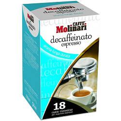 Кофе Caffe Molinari Deсaffeinato Espresso в монодозах 18 шт