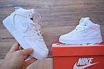 Кроссовки Nike Air Force 1 Mid LV8 белые зимние, на меху, проошиты, фото 4