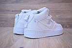 Кроссовки Nike Air Force 1 Mid LV8 белые зимние, на меху, проошиты, фото 7