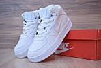 Кроссовки Nike Air Force 1 Mid LV8 белые зимние, на меху, проошиты, фото 5