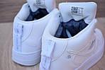 Кроссовки Nike Air Force 1 Mid LV8 белые зимние, на меху, проошиты, фото 2