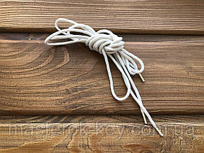 Шнурки обувные круглые 100см цвет белый