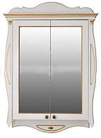 Шкаф зеркальный Атолл Ривьера dorato (дорато - белый, патина золото), 170х1150х780 мм