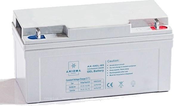 Аккумулятор гелевый 65Ач 12В, AX-GEL-65, AXIOMA