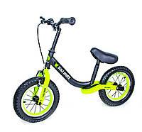 Велобег Scale Sports с тормозом, деткам от 2 лет. Черно Салатовый, фото 1