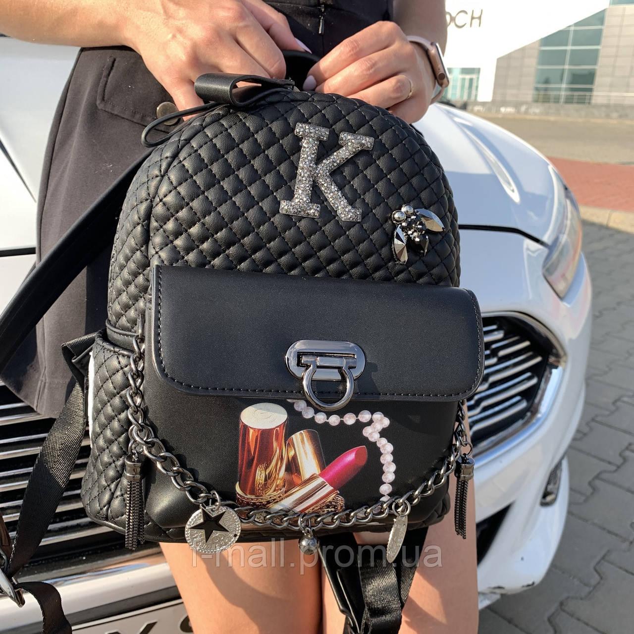 Стильный женский рюкзак  кожзам Супер качество (6274)